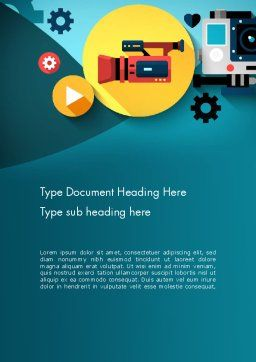 Video Gadgets Word Template, Cover Page, 13728, Careers/Industry — PoweredTemplate.com