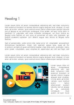 Video Gadgets Word Template, First Inner Page, 13728, Careers/Industry — PoweredTemplate.com
