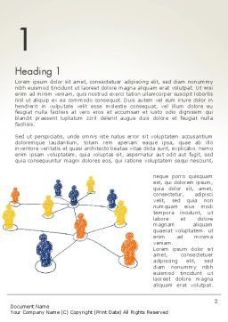 People Network Connections Word Template, First Inner Page, 13732, Business Concepts — PoweredTemplate.com