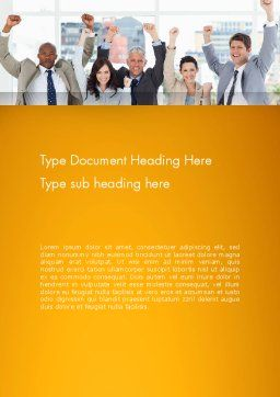 Rejoicing Business People Word Template, Cover Page, 13735, People — PoweredTemplate.com