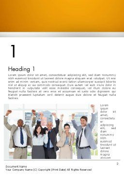 Rejoicing Business People Word Template, First Inner Page, 13735, People — PoweredTemplate.com