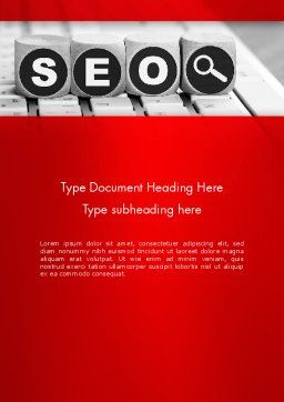 SEO Services Word Template, Cover Page, 13736, Careers/Industry — PoweredTemplate.com