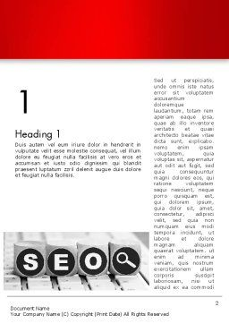 SEO Services Word Template First Inner Page