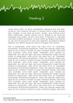 Green Tree and Grass Illustration Word Template Second Inner Page
