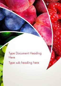 Fruits Swirl Word Template, Cover Page, 13743, Food & Beverage — PoweredTemplate.com