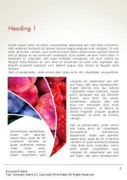Fruits Swirl Word Template, First Inner Page, 13743, Food & Beverage — PoweredTemplate.com