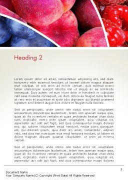 Fruits Swirl Word Template, Second Inner Page, 13743, Food & Beverage — PoweredTemplate.com
