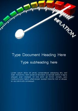Speed of Inflation Word Template Cover Page
