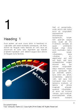Speed of Inflation Word Template First Inner Page