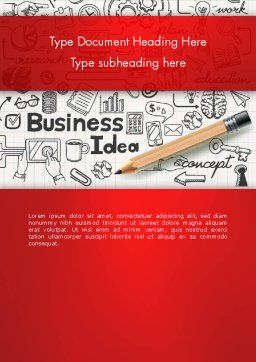 Business Doodles Word Template, Cover Page, 13748, Business — PoweredTemplate.com