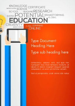 Global Online Learning Word Template, Cover Page, 13750, Education & Training — PoweredTemplate.com