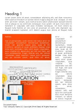 Global Online Learning Word Template, First Inner Page, 13750, Education & Training — PoweredTemplate.com