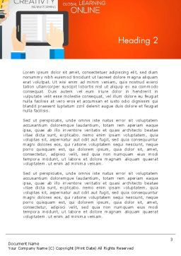 Global Online Learning Word Template, Second Inner Page, 13750, Education & Training — PoweredTemplate.com