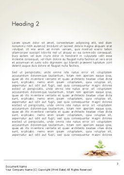 Green Finance Word Template, Second Inner Page, 13751, Financial/Accounting — PoweredTemplate.com