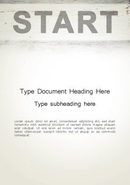 Start Word Template, Cover Page, 13754, Business Concepts — PoweredTemplate.com