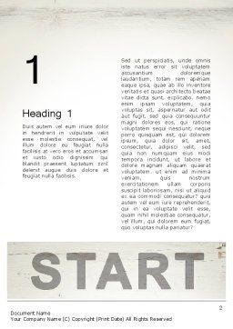Start Word Template, First Inner Page, 13754, Business Concepts — PoweredTemplate.com