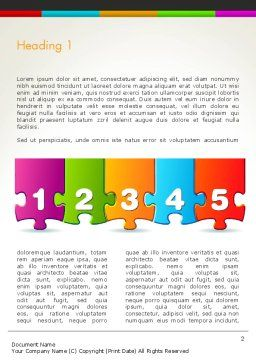 Jigsaw Puzzle Piece with Numbers Word Template, First Inner Page, 13755, Business Concepts — PoweredTemplate.com
