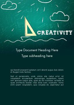 Creativity School Word Template Cover Page