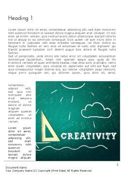 Creativity School Word Template First Inner Page