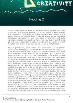 Creativity School Word Template, Second Inner Page, 13756, Education & Training — PoweredTemplate.com