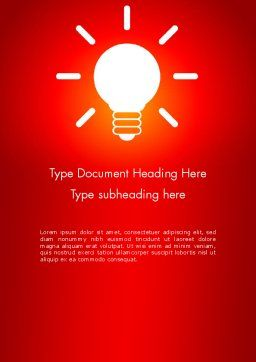 Good Creative Idea Word Template, Cover Page, 13759, Business Concepts — PoweredTemplate.com