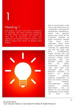 Good Creative Idea Word Template, First Inner Page, 13759, Business Concepts — PoweredTemplate.com