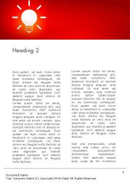 Good Creative Idea Word Template, Second Inner Page, 13759, Business Concepts — PoweredTemplate.com