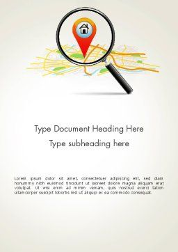 Search Location Word Template, Cover Page, 13763, Careers/Industry — PoweredTemplate.com