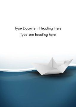Origami Paper Boat Word Template, Cover Page, 13771, Business Concepts — PoweredTemplate.com