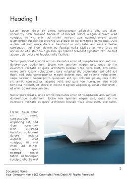 Origami Paper Boat Word Template, First Inner Page, 13771, Business Concepts — PoweredTemplate.com