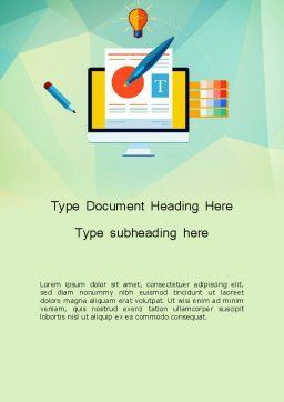 Document Design Word Template Cover Page