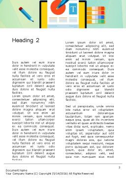 Document Design Word Template, Second Inner Page, 13772, Careers/Industry — PoweredTemplate.com