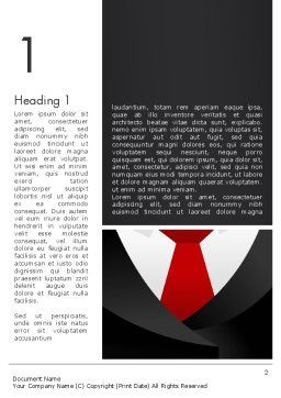 Formal Suit Word Template, First Inner Page, 13774, Business — PoweredTemplate.com