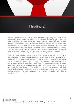 Formal Suit Word Template, Second Inner Page, 13774, Business — PoweredTemplate.com
