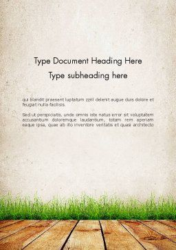Wooden Floor Terrace Word Template Cover Page