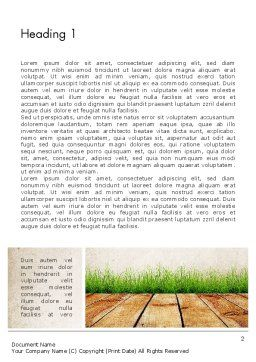 Wooden Floor Terrace Word Template, First Inner Page, 13775, Careers/Industry — PoweredTemplate.com