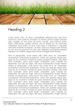 Wooden Floor Terrace Word Template, Second Inner Page, 13775, Careers/Industry — PoweredTemplate.com