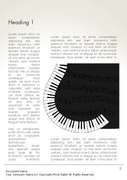Guitar and Piano Art Word Template, First Inner Page, 13778, Art & Entertainment — PoweredTemplate.com