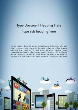 Mobile Advertising Word Template Cover Page