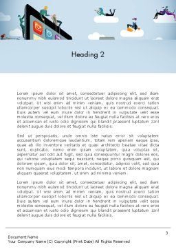 Mobile Advertising Word Template Second Inner Page