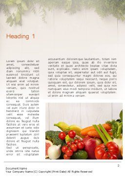 Fruits and Vegetables Word Template, First Inner Page, 13782, Agriculture and Animals — PoweredTemplate.com