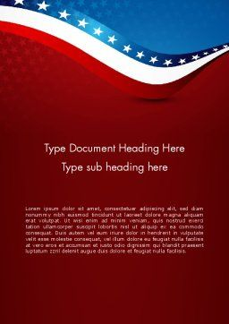USA Patriotic Themed Word Template Cover Page