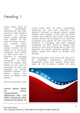 USA Patriotic Themed Word Template, First Inner Page, 13784, America — PoweredTemplate.com