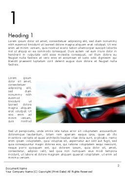 Speedy Car Word Template, First Inner Page, 13787, Sports — PoweredTemplate.com