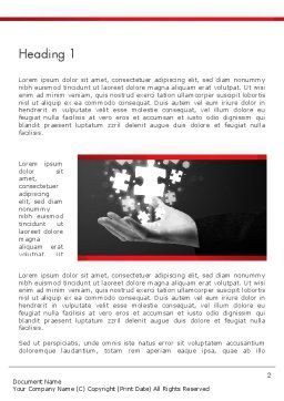 Businessman Hand with Glowing Puzzle Pieces Word Template, First Inner Page, 13790, Business Concepts — PoweredTemplate.com