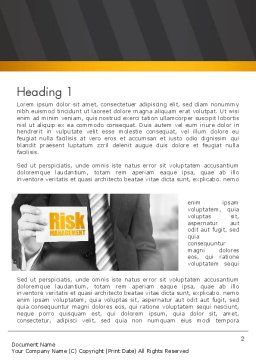 Risk Management Services Word Template, First Inner Page, 13793, Consulting — PoweredTemplate.com