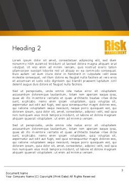 Risk Management Services Word Template, Second Inner Page, 13793, Consulting — PoweredTemplate.com