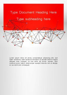 Polygonal Connections Word Template, Cover Page, 13802, Business — PoweredTemplate.com
