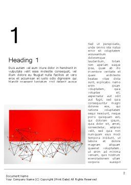 Polygonal Connections Word Template, First Inner Page, 13802, Business — PoweredTemplate.com