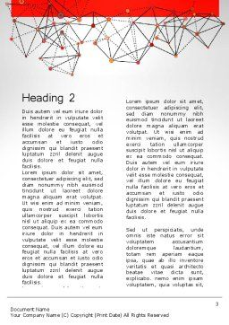 Polygonal Connections Word Template, Second Inner Page, 13802, Business — PoweredTemplate.com